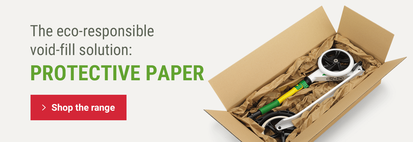 The eco-responsible void-fill solution: PROTECTIVE PAPER