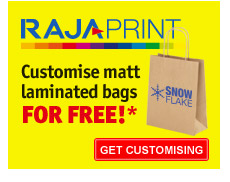 Customise matt laminated bags FOR FREE!*