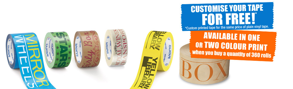 Design your own custom printed tape