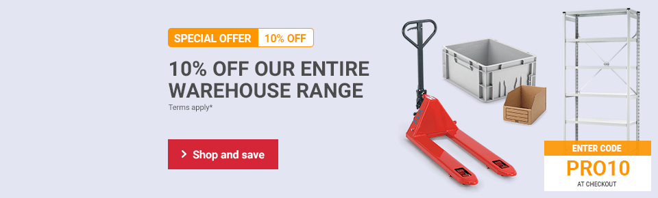 10% off the warehouse range