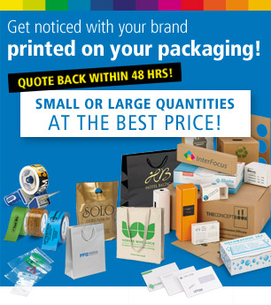 Get noticed with your brand printed on your packaging