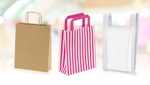 Paper, Kraft, plastic and gift bags