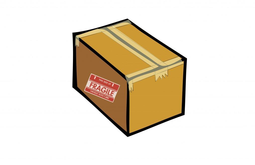 Sealed fragile box