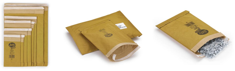 Padded, self-seal gold Jiffy Green bags - eco-friendly jiffy bags