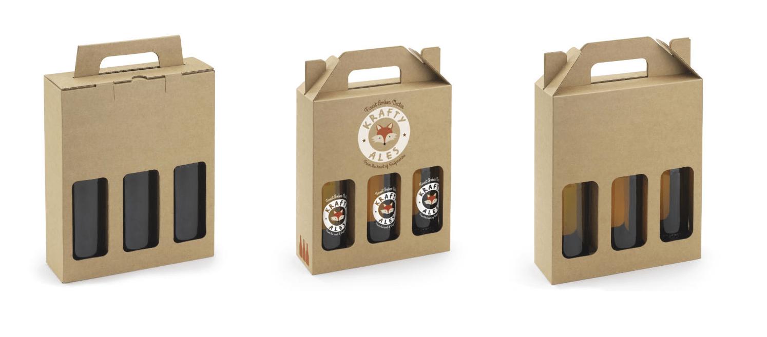 Custom printed beer boxes