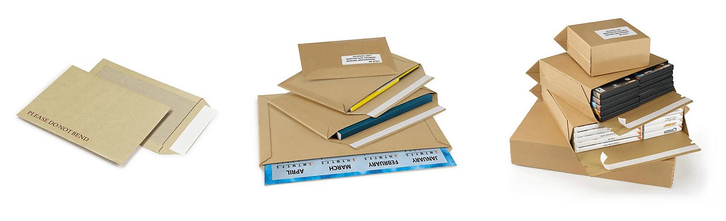 Cardboard backed envelopes