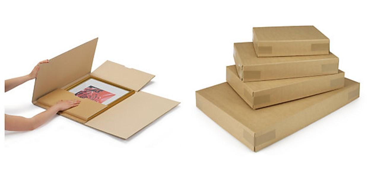 Extra-large flat cardboard boxes