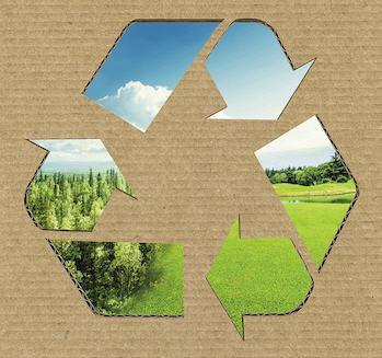 Recycled packaging at RAJA