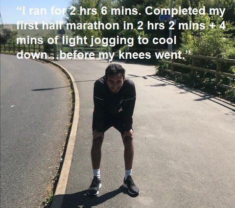 Afsar Parker ran his first half marathon, also supporting MIND