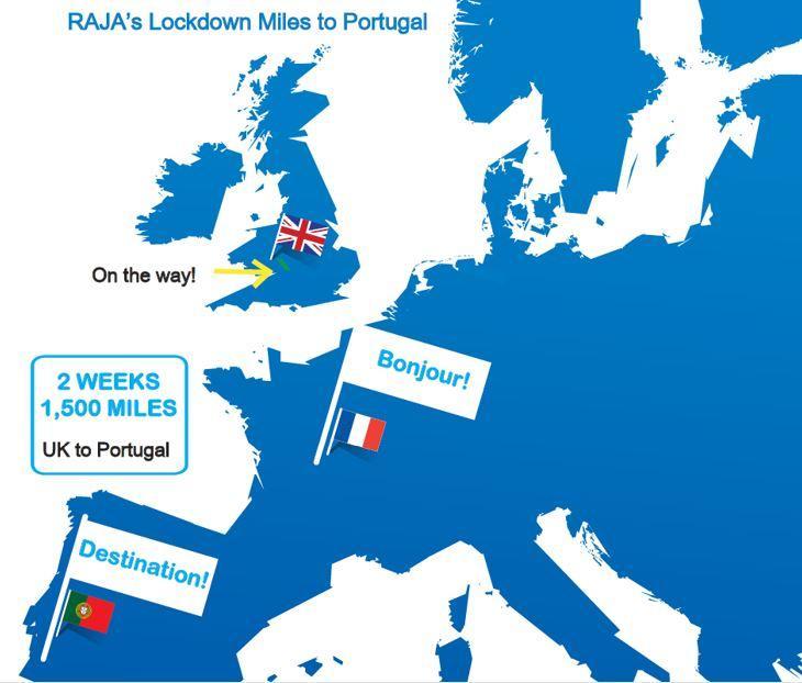 RAJA Lockdown Challenge Miles to Portugal