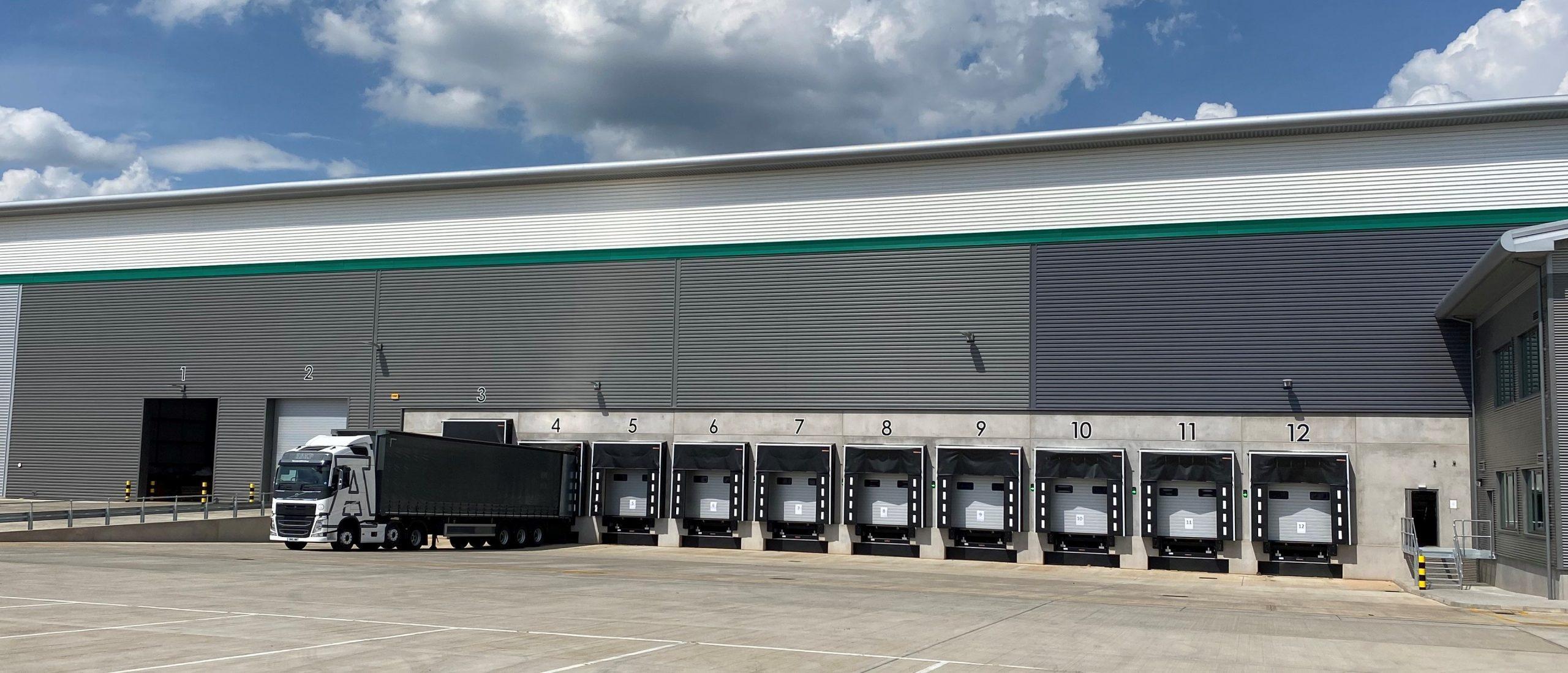 RAJA UK's new packaging warehouse docking bays